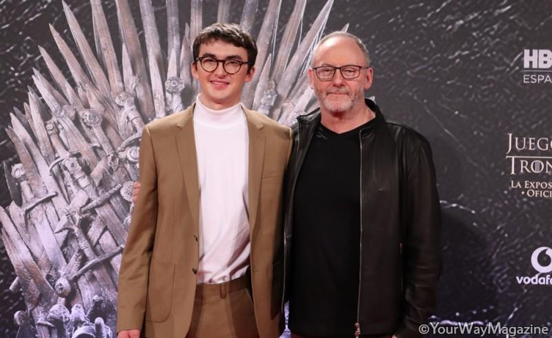 exposicion oficial de juego de tronos bran stark sir davos madrid españa spain Isaac Hempstead Wright Liam Cunningham